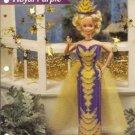 Royal Purple Barbie Doll Gown Plastic Canvas Pattern