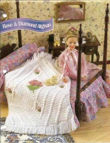 Rose Diamond Afghan Crochet Pattern For Barbie Fashion Dolls