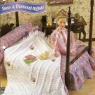 Rose Diamond Afghan Crochet Pattern for Barbie Fashion Dolls