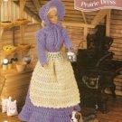 Annies Attic Barbie Doll Size Prairie Dress Apron Crochet Pattern