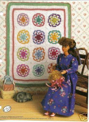 Old Fashioned Star Quilt Crochet Quilt Pattern For Barbie
