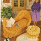 Annies Attic French Settee Crochet Pattern for Barbie Doll Size Dolls