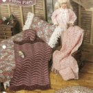 Afghan and Pillows Barbie Doll Size Crochet Pattern by Annies Attic