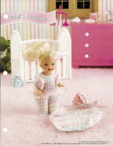 Annie S Attic 4 Inch Baby Doll Bedtime Clothes Crochet
