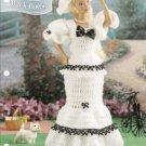 Annie's Attic: Black Bows Gown Barbie Doll Crochet Pattern