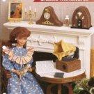 Annie's attic Barbie Doll Size Victrola Radio Mantel Clock Plastic Canvas Pattern