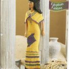 Annies Attic: Barbie Doll Size Egyptian Fantasy Gown Crochet Pattern