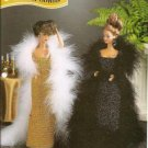 Annies Attic Barbie Fashion Doll Size Evening Gowns Crochet Patterns