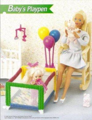 Doll Babys Playpen Plastic Canvas Pattern