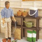 Doll Size Garden Shelf Watering Can Plant Pot Plastic Canvas Pattern