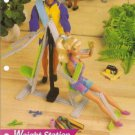 Barbie and Ken Doll Size Weight Lifting Station Plastic Canvas pattern