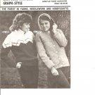 Mary Maxim 4375 An Argyle Yolk Sweater Pattern