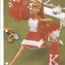 Annies Attic: Rah rah Cheerleader Plastic Canvas Pattern for Barbie Size Dolls