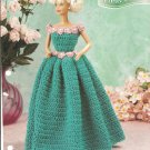 Annies Attic, Pretty Petals Barbie Doll Size Gown Crochet Pattern