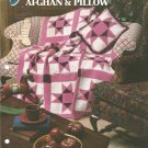 Annies Attic,   Ohio Star Afghan and Pillow Crochet Pattern