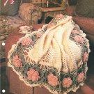 Annies Attic, Arbor Rose Crochet Afghan Pattern