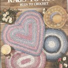 Leisure Arts Rags to Rugs Crochet Pattern, Leaflet 1186