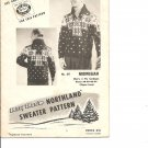 Mary Maxim 411,  Men's 4 ply Graph Style Cardigan Knitting Pattern