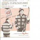 Mary Maxim 420  Men's Iroquois Graph Style Cardigan Knitting Pattern