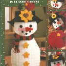 Leisure Arts 1853, Frosty Snowman Coasters, containers and More Plastic Canvas Patterns