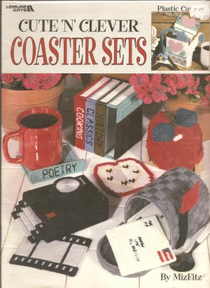 Cute N Clever Coaster Sets, Plastic Canvas Patterns, Leisure Arts 1863