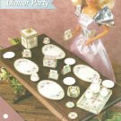 Annie's Attic Formal Dinner Party Plastic Canvas Pattern for Barbie Size Dolls