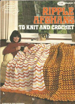 Ripple Afghan Patterns,  Vintage Knit and Crochet Afghan Patterns