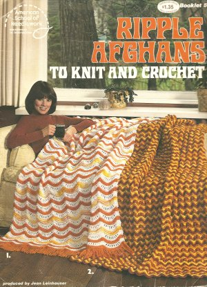 Ripple Afghans to Knit and Crochet Patterns Circa 1978