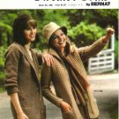 Sweater Coats by Bernat Number 268, Knitting Patterns