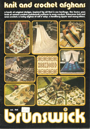Knitting and Crochet Afghan Patterns by Bruinswick Vol 76