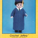 Collectible Doll Series, Crochet Jeffrey, a Grad Gown and Cap for 15 Inch Dolls