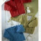 Sirdar 3005, Snuggly Crochet Sweater Patterns for Newborn to 6 Years old