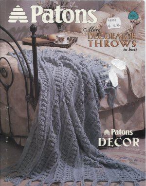 Patons, More Decorator Throws or Afghans Knitting Patterns