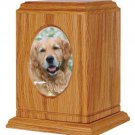 Small/Keepsake Brown Wood 60 Cubic Inches Funeral Cremation Urn with Photo Frame