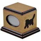 Cat Small/Keepsake Brown Wood 50 Cubic Inches Cremation Urn with Photo Frame