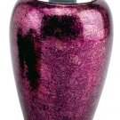 Small 87 Cubic Ins Burgundy Alloy Funeral Cremation Urn for Ashes w/Velvet Pouch