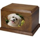 Brown Wood 60 Cubic Inches Funeral Cremation Urn for Ashes with Photo Frame