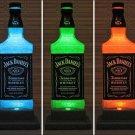 Jack Daniels Whiskey Remote Control LED Color Changing Bottle Lamp Bar Light