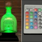Patron Tequila 16 Color Change Remote Control Bottle Lamp Light LED Man Cave