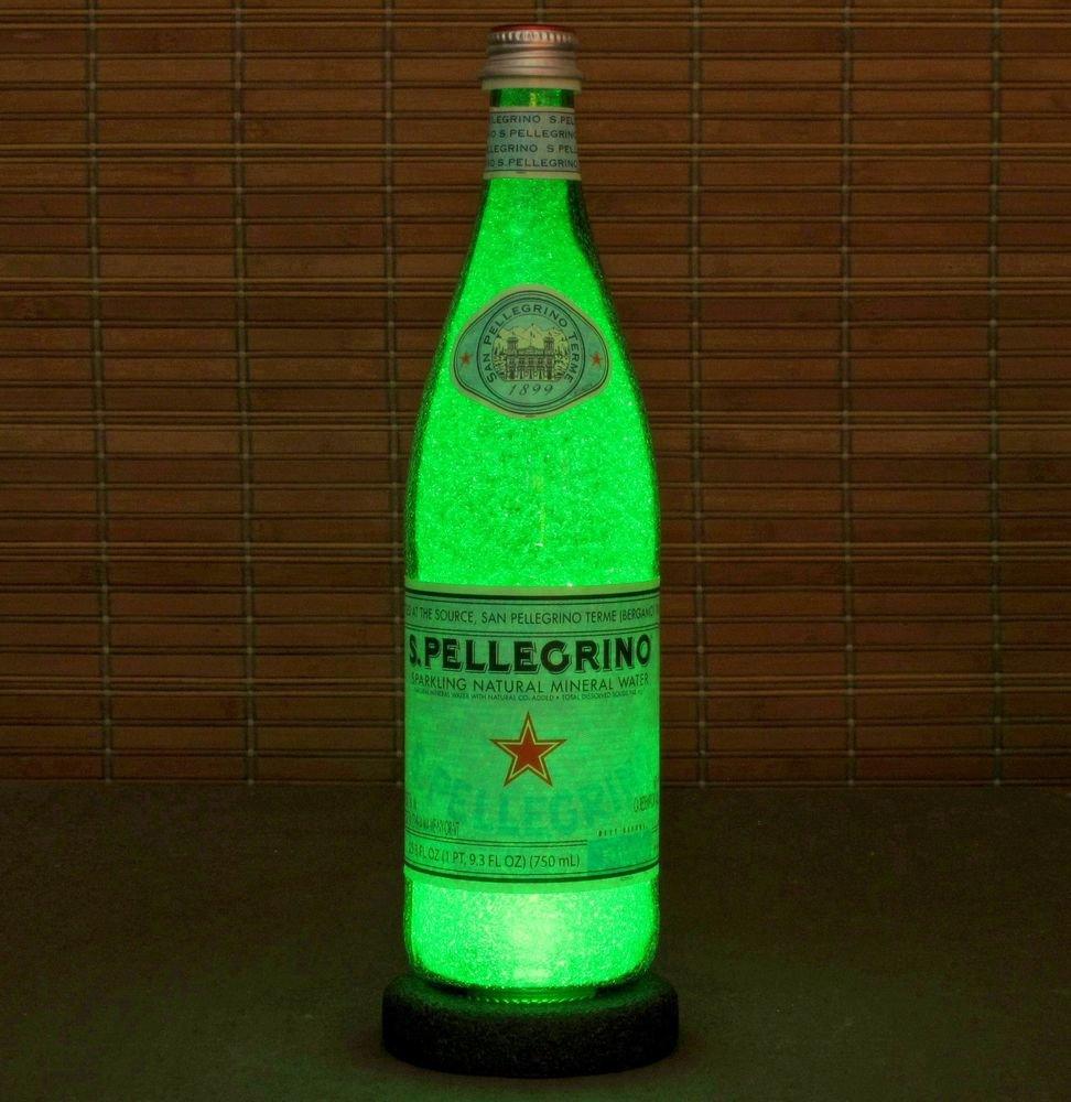 San Pellegrino Big 24oz.LED  Bottle Lamp Light Bar Sign Man Cave Sparkle Italy