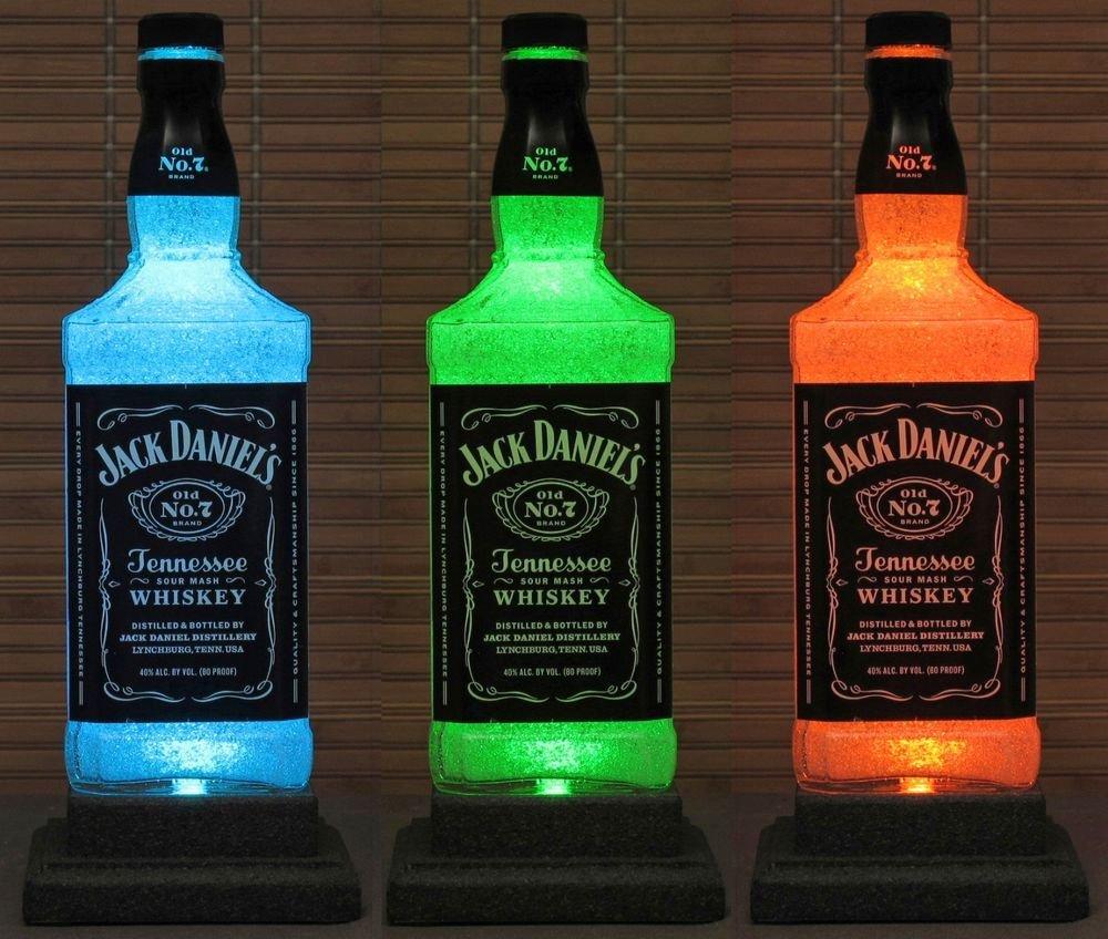 Jack Daniels Color Changing Remote Control Liquor Bottle Lamp Bar Light Decor