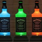 Jack Daniels Color Changing Remote Control Liquor Bottle Lamp Bar Light Decor