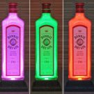 Bombay London Gin LED Remote Control Color Change Bottle Lamp Bar Light England
