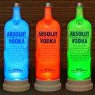 Absolut Vodka Remote Controlled Color Changing RGB LED Bottle Lamp Bar Light