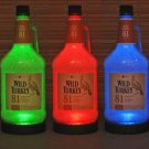 Wild Turkey 1.75 Liquor Bottle Lamp Remote Control Color Changing LED Bar Light