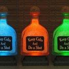 Patron Bottle KEEP CALM Color Change Remote Control LED Bottle Lamp Bar Light
