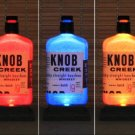 Knob Creek Whiskey Color Changing Remote LED Bottle Lamp Bar Light Fathers Day