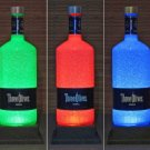 Three Olives Vodka Color Changing Bottle Lamp 1.75 Liter Remote LED Bar Light