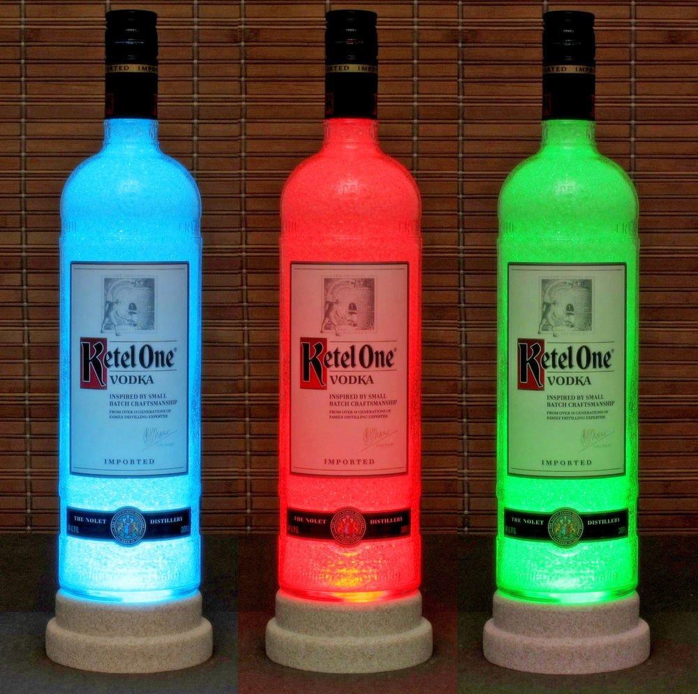 Ketel One Vodka Remote Control Color Change LED Bottle Lamp Bar Light Man Cave