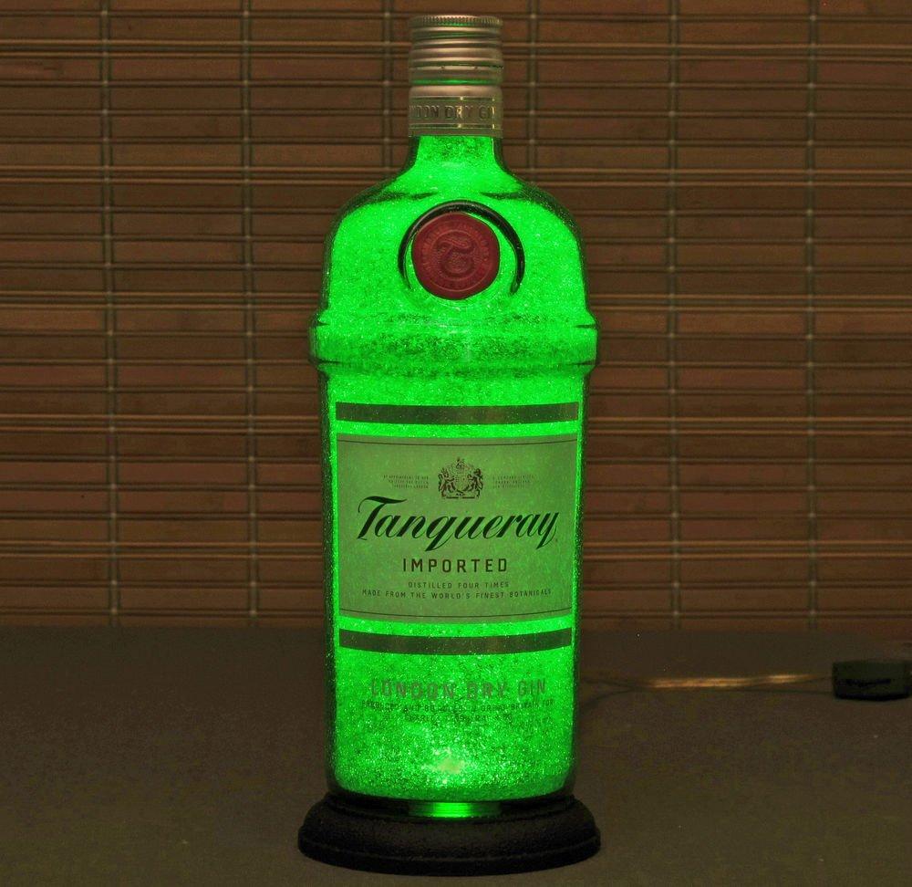 Tanqueray Gin Led Bottle Lamp  Bar Light night light bar man cave London England